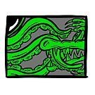 Framed Bests! The Alligator and Octopus Fight Mean Green by Shelly Still