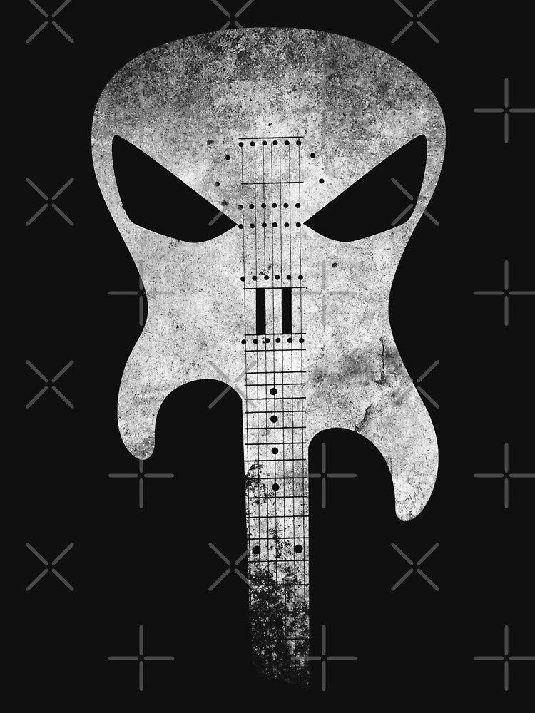 Punish Guitar Skull  by jmrmaverick