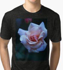 Blushing Pink Rose Tri-blend T-Shirt