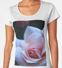 Blushing Pink Rose Women's Premium T-Shirt