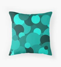 Teal Circle Pattern Floor Pillow