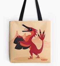 Vainglorious Velociraptor Tote Tote Bag