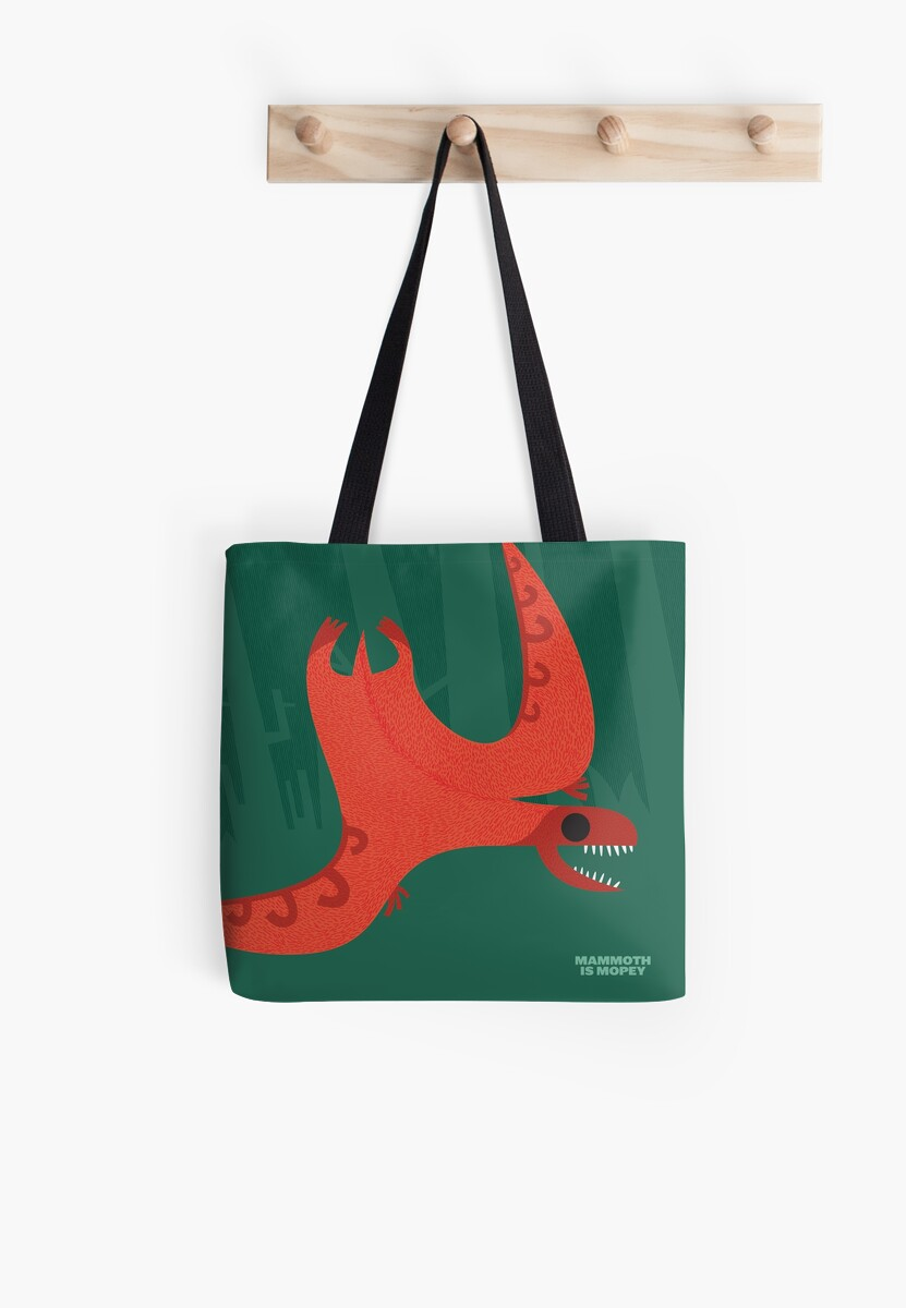 Jovial Jeholopterus Tote by David Orr