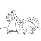 Thanksgiving Pilgrim and Turkey  by ValentinaHramov