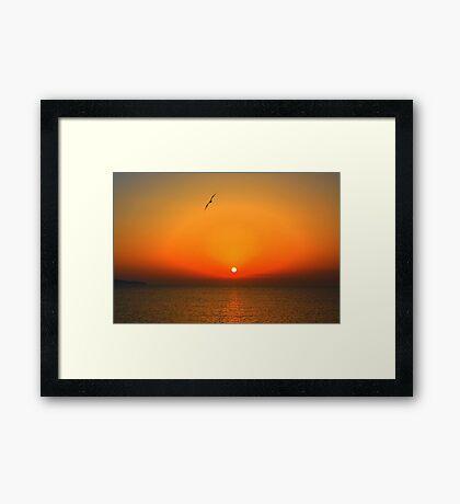 Sicilian sunset over Trapani Framed Print