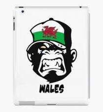Wales Flag - Coat of Arms - Dragon - Great Britain - UK - Monkey Cartoon iPad Case/Skin