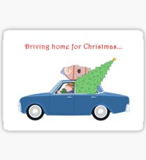 Driving Home for Christmas (white background) Sticker
