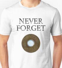 Camiseta unisex Nueva York nunca olvide el token del metro