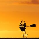 Windmill Sunset. by Jaime Cifuentes