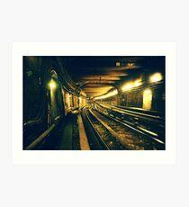 Abbesses Metro tunnel Art Print