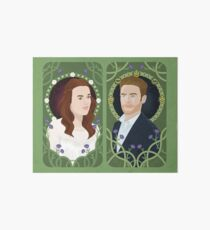 Fitz and Simmons art nouveau Art Board