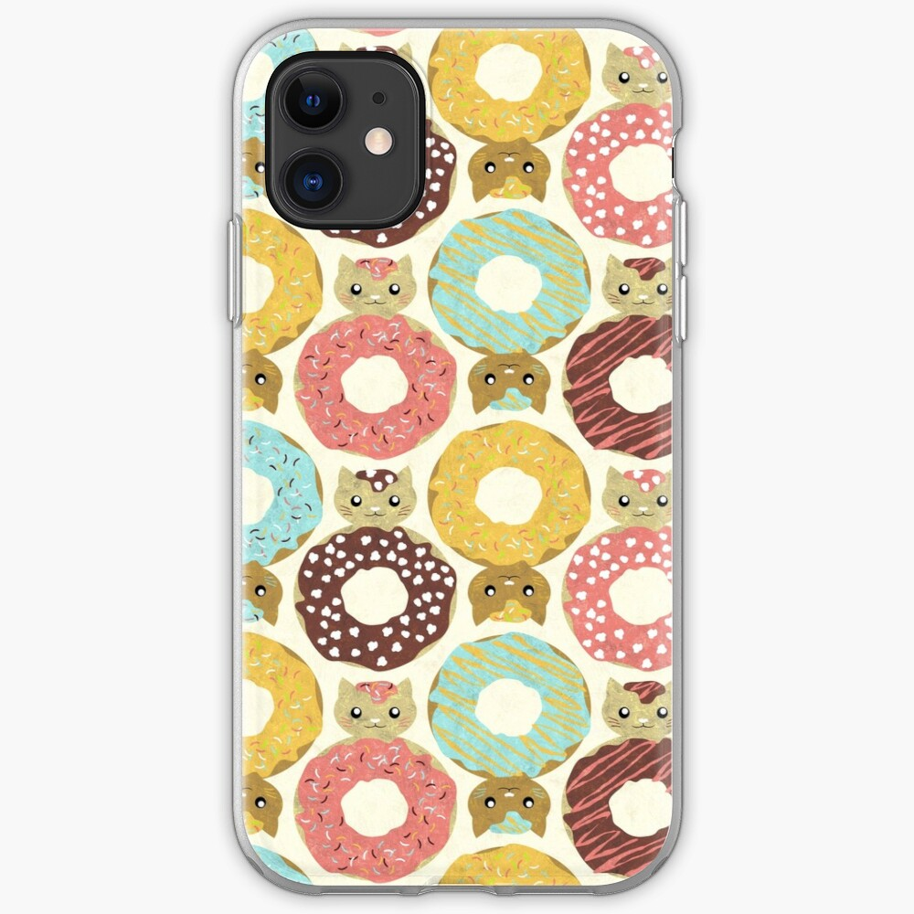 donut cats iPhone Soft Case