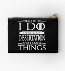 Funny PhD Student Dissertation Doctorate PsyD Gift Studio Pouch