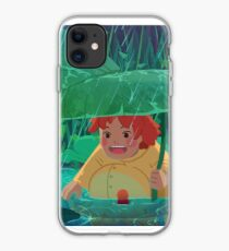 Ponyo on the cliff by the sea iphone case