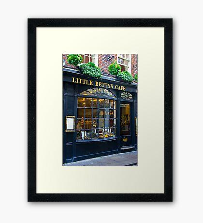 Little Betty's Cafe Framed Print