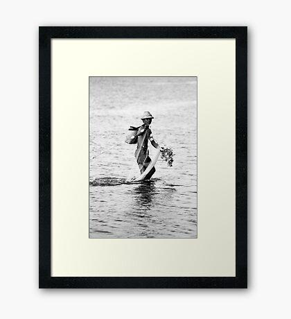 Balinese Fisherman Framed Print