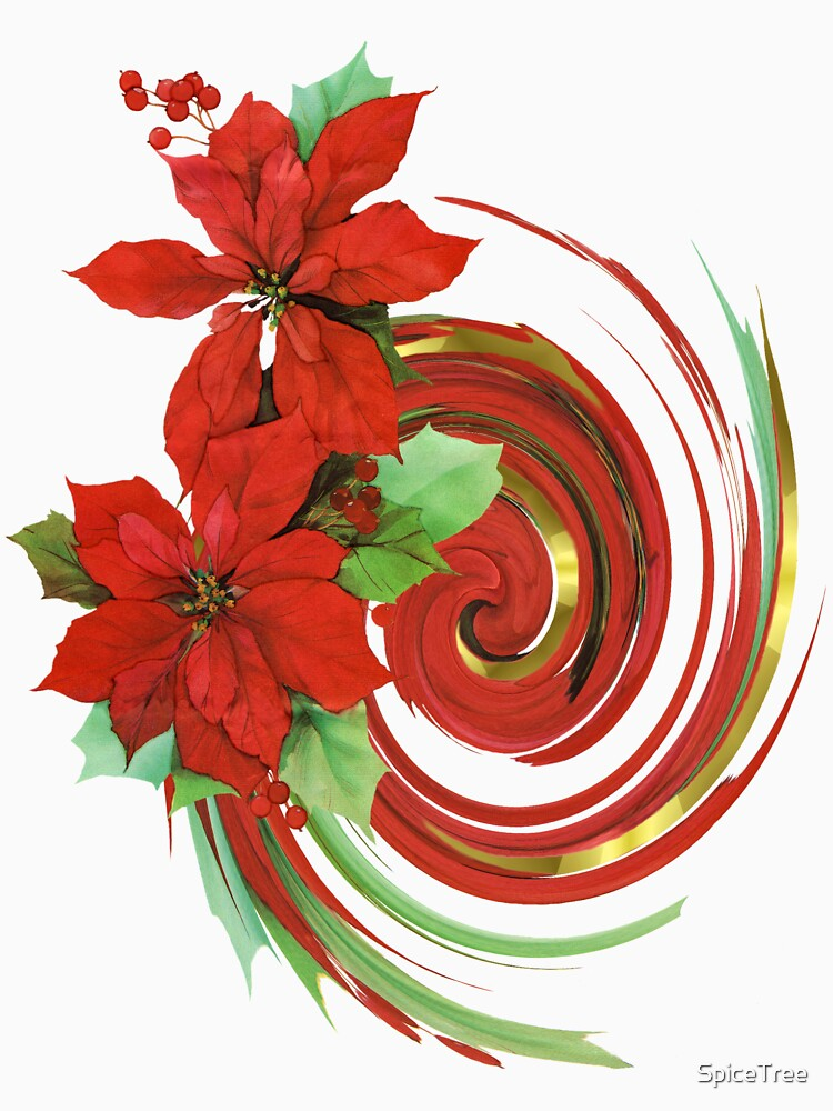 Poinsettia Swirl by SpiceTree