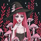 Poisonous Mushroom Witch by ARiAillustr