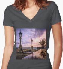 View from Capitol in Nashville, Tennessee, during the Civil War 1864 Women's Fitted V-Neck T-Shirt