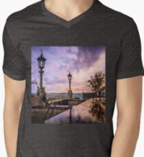 View from Capitol in Nashville, Tennessee, during the Civil War 1864 Men's V-Neck T-Shirt