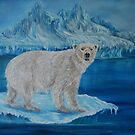 """Polar Bear on Ice"" - Oil Painting by Avril Brand"