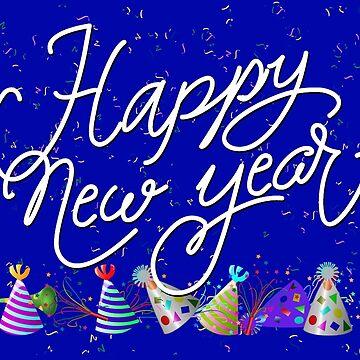 Confetti Happy New Years Celebration by Gravityx9