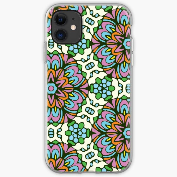 Ice Queen Retro Floral Garden iPhone Soft Case
