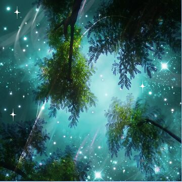 trees and starry sky by susana-art