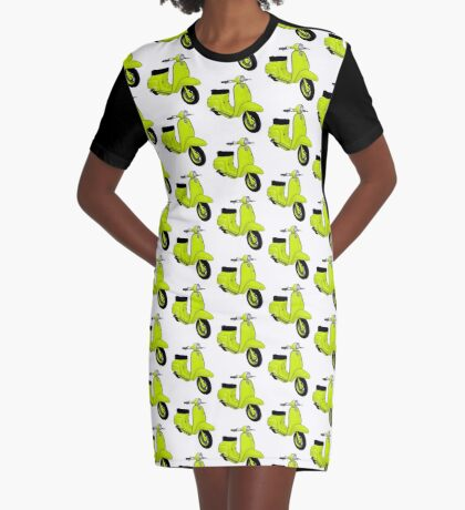 Scooter T-shirts Art: J50 Deluxe Scooter Design Graphic T-Shirt Dress