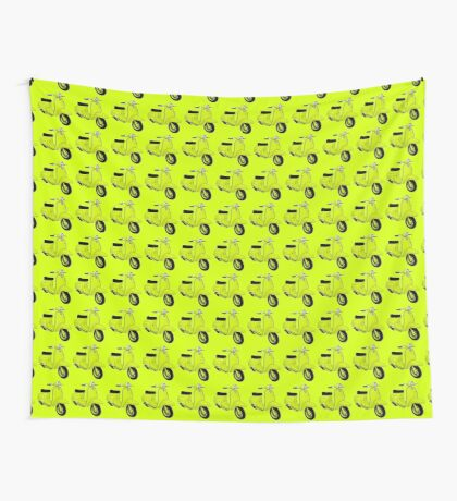 Scooter T-shirts Art: J50 Deluxe Scooter Design Wall Tapestry