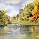 Fountains Abbey, Yorkshire by artbyrachel