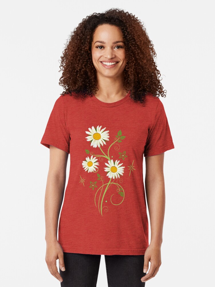Alternative Ansicht von Ranke mit Margeriten, Wildblumen Vintage T-Shirt