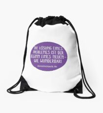 New Problems - how wonderful! Print  Drawstring Bag