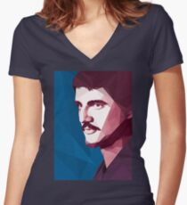 OBERYN Women's Fitted V-Neck T-Shirt