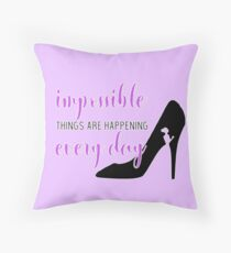 "Cinderella Broadway ""Impossible"" / ""It's Possible""  Throw Pillow"