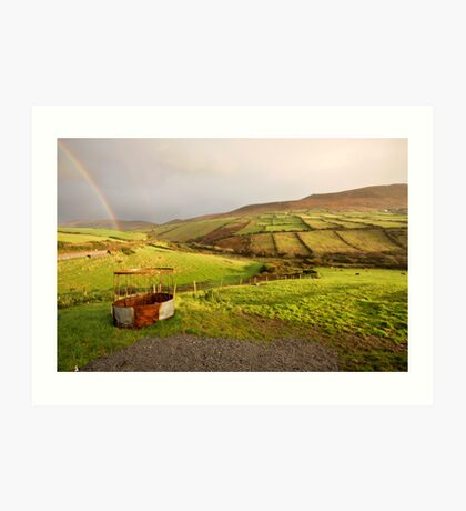 A pot of gold in the fields of Kerry Art Print