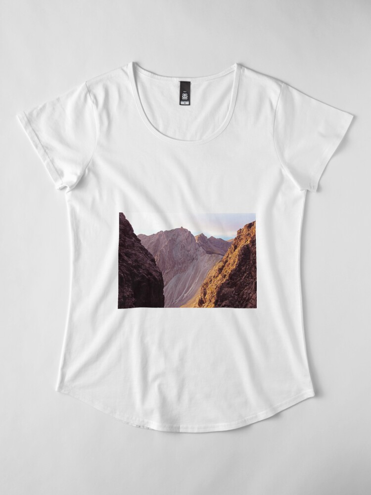 Alternate view of From The Great Stone Chute Premium Scoop T-Shirt