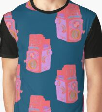 Old Fashioned Vintage Camera Illustration Pattern Graphic T-Shirt