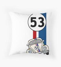 herbie Vintage Look 53 Car Race Number Graphic Throw Pillow
