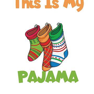 This Is My Christmas Pajama Shirt tee by GK-Graphics