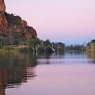 Dusk on  the Ord River, Western Australia by Adrian Paul