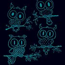 Owls in the night by mangulica