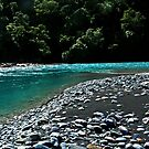 Magnificent colour of a River near the Haast Pass.....New Zealand by Imi Koetz