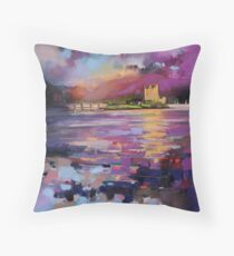 Evening Light at Eilean Donan Castle Throw Pillow