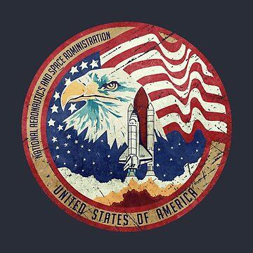 Nasa Eagle Rocket Flag V01 by Lidra