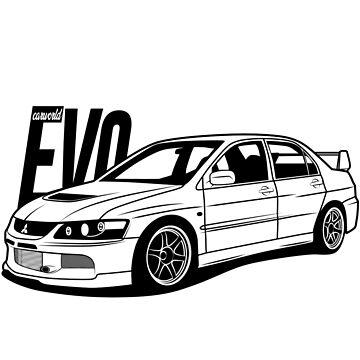 Mitsubishi Lancer Evolution EVO 9 Best Shirt by CarWorld