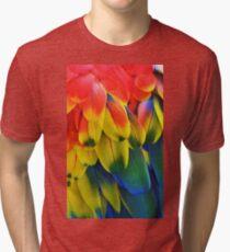 Parrot Feathers Tri-blend T-Shirt