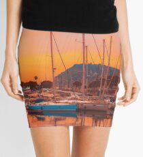 Boats in Barcelona Mini Skirt