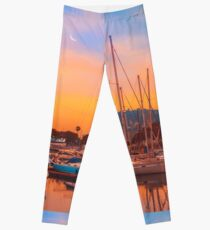 Boats in Barcelona Leggings