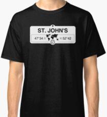 St John's Newfoundland and Labrador Coordinates GPS  Classic T-Shirt